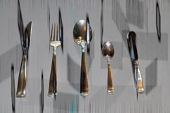 Silverware floating Royalty Free Stock Images