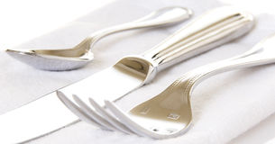 Silverware Fork, Knife, and Spoon Royalty Free Stock Images