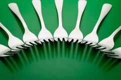 Silverware forks 2 Stock Photos