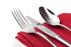 silverware Forquilha, colher e faca isoladas sobre fotos de stock royalty free