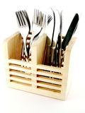 Silverware in a Holder Stock Photography
