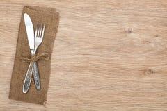 Silverware lub flatware ustawiający rozwidlenie i nóż fotografia royalty free