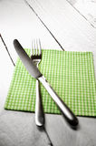 Silverware and napkin Stock Photography