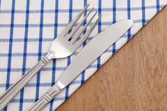 Silverware on napkin Stock Photography