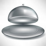Silverware open catering tray Royalty Free Stock Image