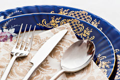 Silverware and porcelain Royalty Free Stock Photography