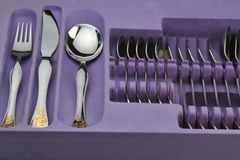 Silverware ready to use Stock Image