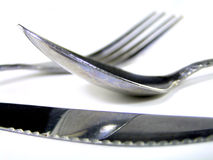 Silverware reflection Royalty Free Stock Images