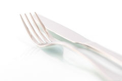 Silverware with reflections Stock Image