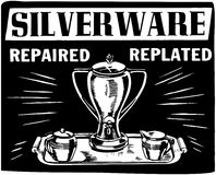 Silverware Repaired Replated Stock Images