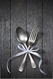 Silverware Ribbon Celebration Background Stock Photography