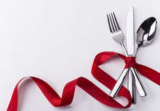 Free Silverware Set For Valentines Day Stock Photos - 40626793