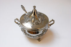 Silverware Sugar Cup Royalty Free Stock Photography