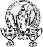 Silverware Tea Set Royalty Free Stock Photo