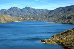 Silverwood Lake. Overview of Silverwood lake state recreational area Stock Image