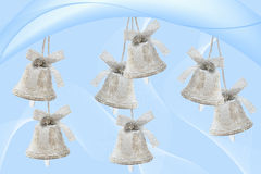 Silvery bells background Royalty Free Stock Photos