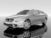 Silvery Business-Class Car Royalty Free Stock Image