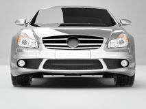 Silvery Business-Class Car Royalty Free Stock Photo