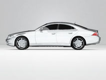 Silvery Business-Class Car stock illustration