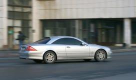 Silvery car. Royalty Free Stock Photo