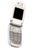 Silvery cellular telephone Stock Photography