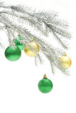 Silvery Christmas tree Royalty Free Stock Photography