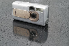 The silvery digital camera Stock Images