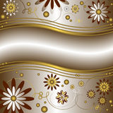 Silvery floral background (vector) Stock Photo