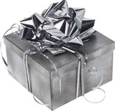 Silvery gift box. Stock Photography