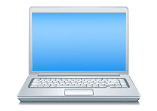 Silvery Laptop Royalty Free Stock Photo