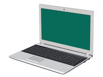 The silvery laptop Royalty Free Stock Photos