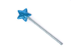 Silvery magic wand isolated on white background. Stock Image