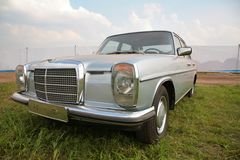 Silvery old-fashioned car Royalty Free Stock Photos
