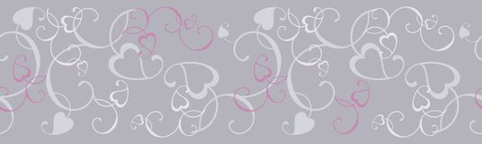 Silvery pattern frieze. Floral ornamented Stock Images
