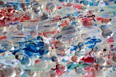 Silvery sparkling blurred brush strokes, blurred watercolor background Royalty Free Stock Photos