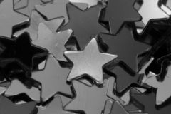 Silvery stars. A macro photograph (close up) of silvery stars Royalty Free Stock Images