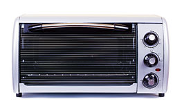 The silvery stove oven  on white Stock Images