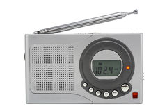 Silvery tiny radio Stock Images