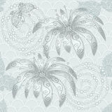 Vintage silvery seamless pattern Royalty Free Stock Photos