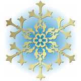 Silvery vintage snowflake. On white background (vector vector illustration