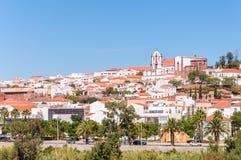Silves全景在葡萄牙 免版税图库摄影