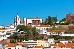 Silves老城镇, Algarve,葡萄牙 免版税库存图片