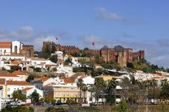 Silves Algarve, Portugal - panoramasikt Fotografering för Bildbyråer