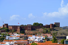 Silves castle in the Algarve, Portugal Stock Images