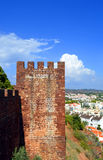 Silves castle tower in the Algarve Royalty Free Stock Photos