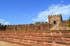 Silves castle tower in the Algarve Stock Photo