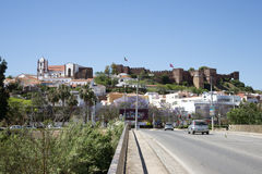 Silves Castle and town in southern Portugal Stock Photos