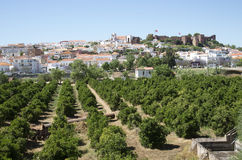 Silves Castle and town in southern Portugal Royalty Free Stock Image