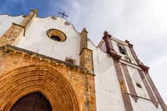 Beautiful Silves Cathedral.  Next to the famous Silves Castle, Algarve region of Portugal. Silves Cathedral.  Next to the famous Silves Castle, Algarve region of royalty free stock photos