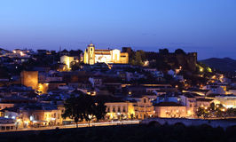 Silves at dusk, Portugal Royalty Free Stock Images
